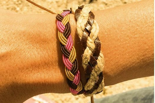BRAIDED AND LEATHER PACK BRACELETS